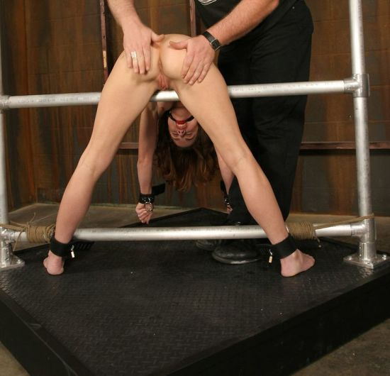 Sexy Brunette Gets Restrained, Spanked and Whipped in the Dungeon