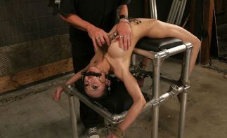 Sexy Petite Asian Gets Bit Gagged, Spread and Tortured in the Dungeon