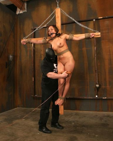 Sexy Petite Asian Gets Crucified and Humiliated Hard in the Dungeon