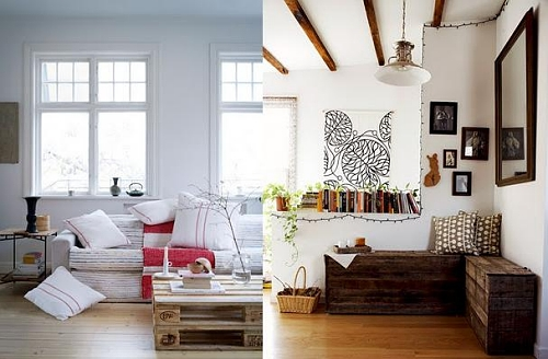 Ideias criativas para decorar sua casa usando paletes