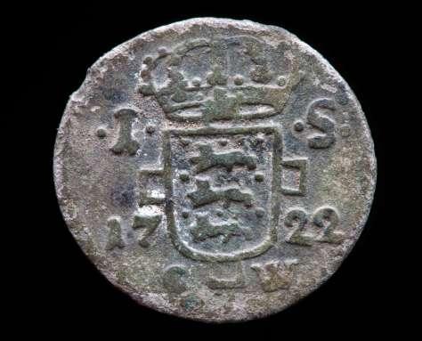 1 skilling 1722, Frederik IV