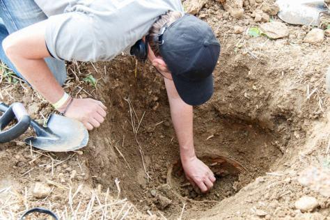 Udgravning af jerngryde