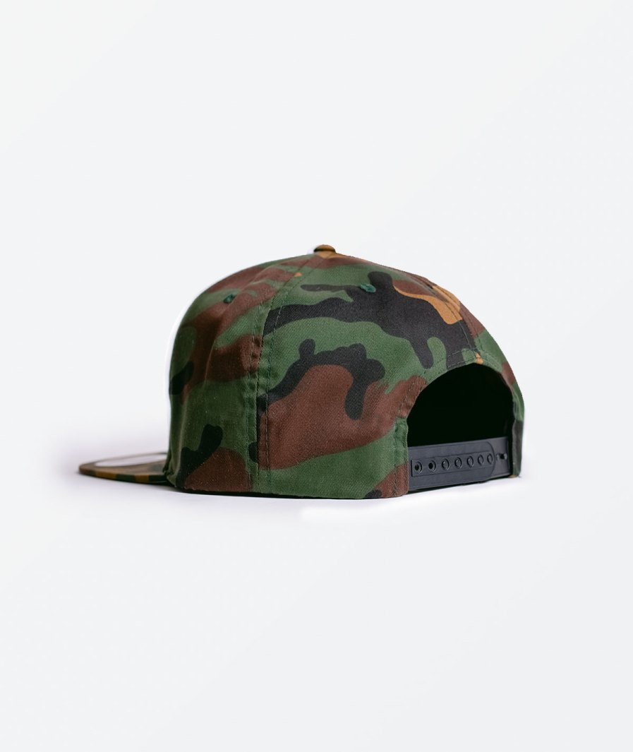 Bones and Marrow Flat Peak camo Cap back