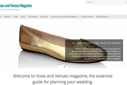 Vows and Venues Magazine features Bonessi Ballerinas