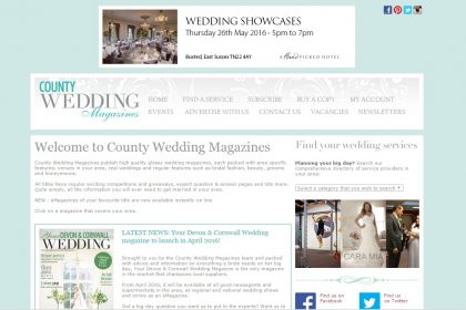 Bonessi Ballerinas featured in County Wedding Magazine