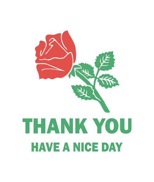 rose t shirt thank