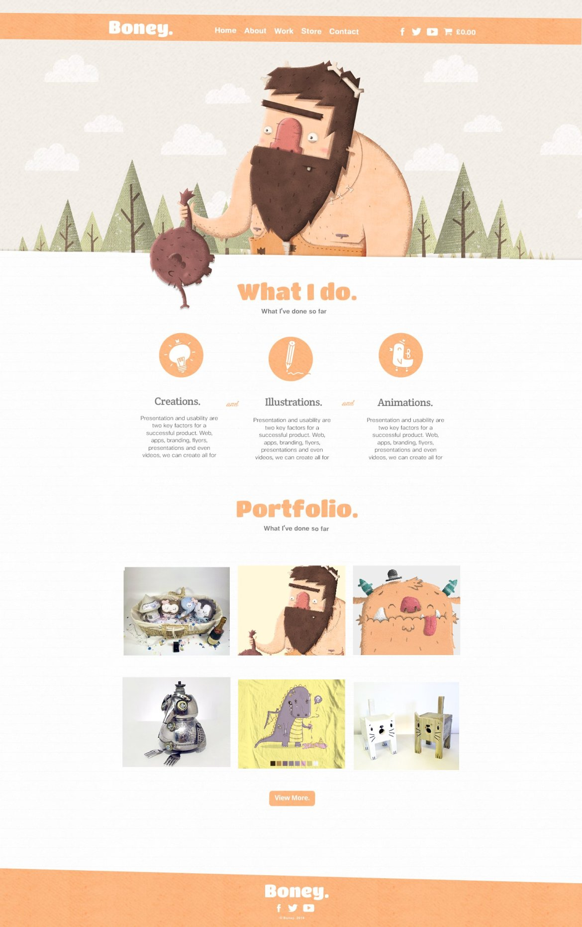 caveman-website
