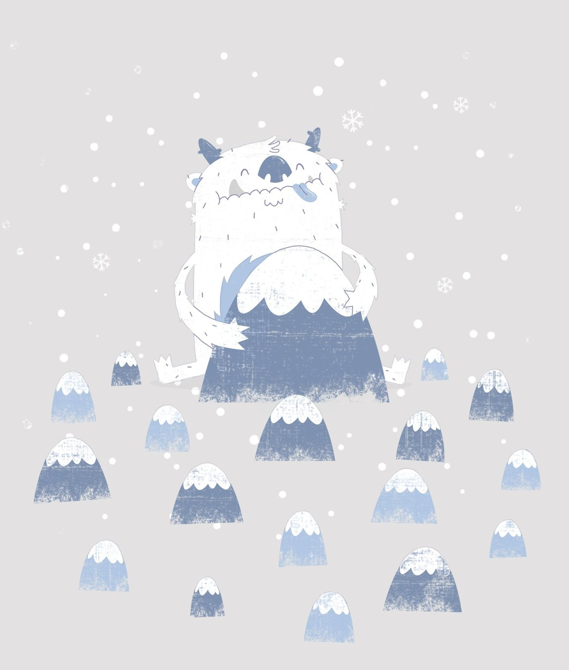 Happy Yeti (T-shirt Design)