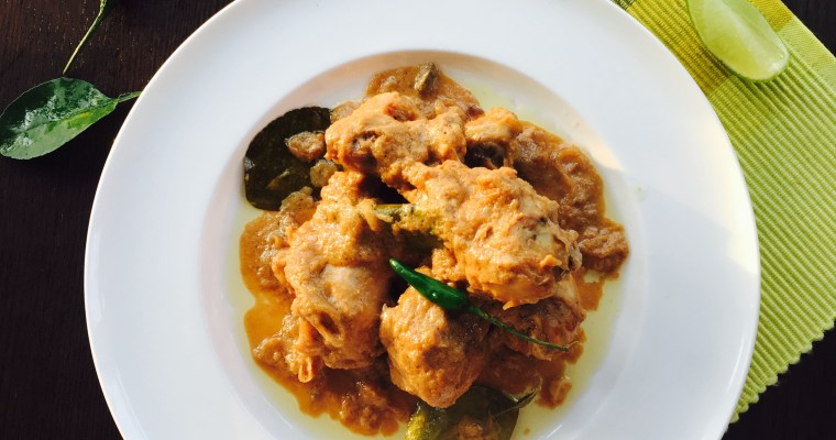 Lebu Lonka Murgi – Chicken Curry with Lime and Green Chillies