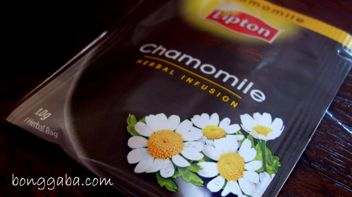 chamomile tea of lipton