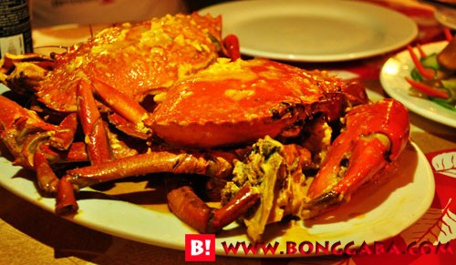 Crab in coconut milk (chilli crab)