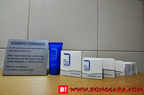 One Pacific Place  bathroom kit