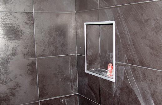 Badezimmer und Dusche  WhiteCube  Wiener Neustadt