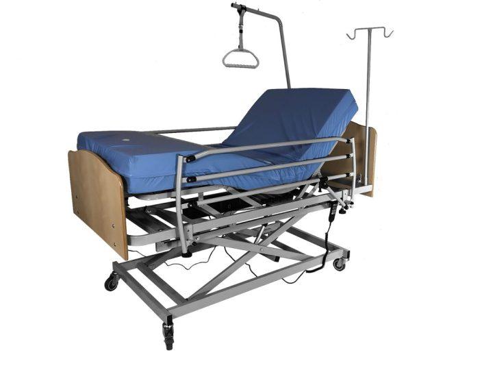 cama geriatrica elevada articulada completa + colchon