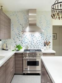8 Creative ways of using wallpapers in Kitchen - Bonito ...