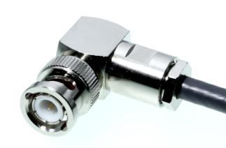 BNC-Stecker 90 Grad Winkel fuer 5mm