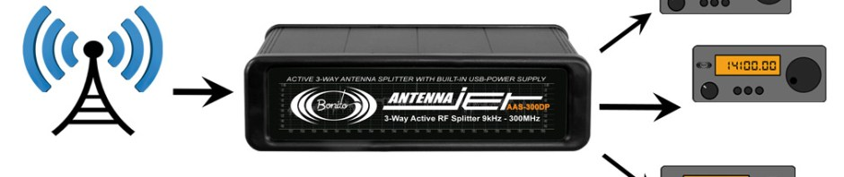 Bonito AntennaJet AAS300DP - Aktiver 3-fach Antennenverteiler 9kHz - 300MHz