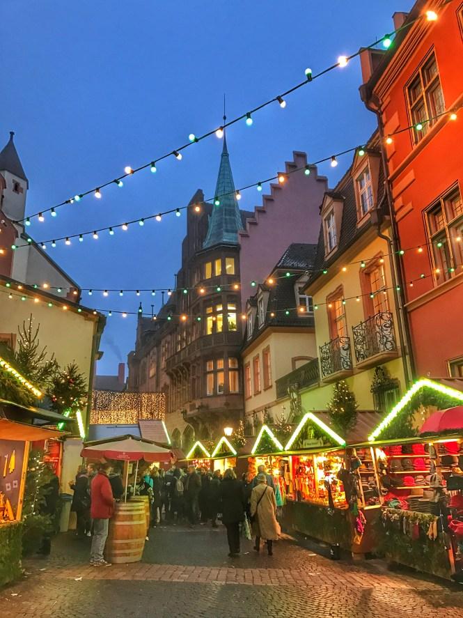 Freiburg Germany Christmas Market Lights