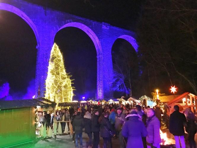 Germany Black Forest Ravenna Gorge Christmas Market Train Mountain Night