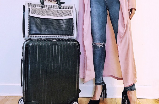 Rimowa travel tax free shopping zara aquazzura outfit