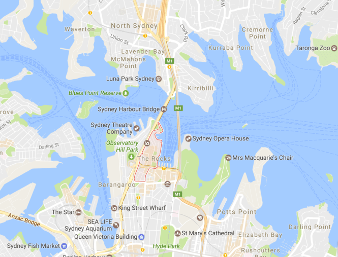 sydney australia guide map the rocks
