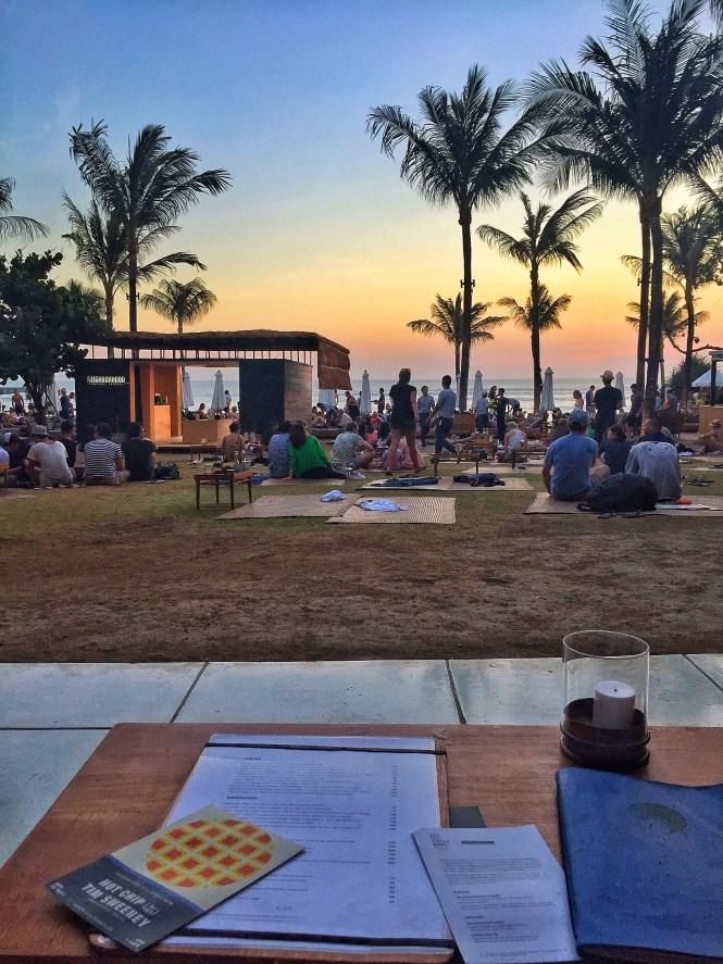 potato head beach club bali sunset