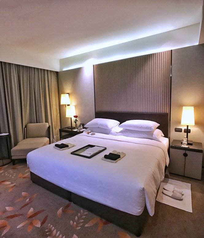 Okura Prestige Bangkok bed