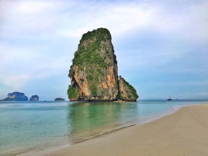 phranang beach rayavadee krabi thailand