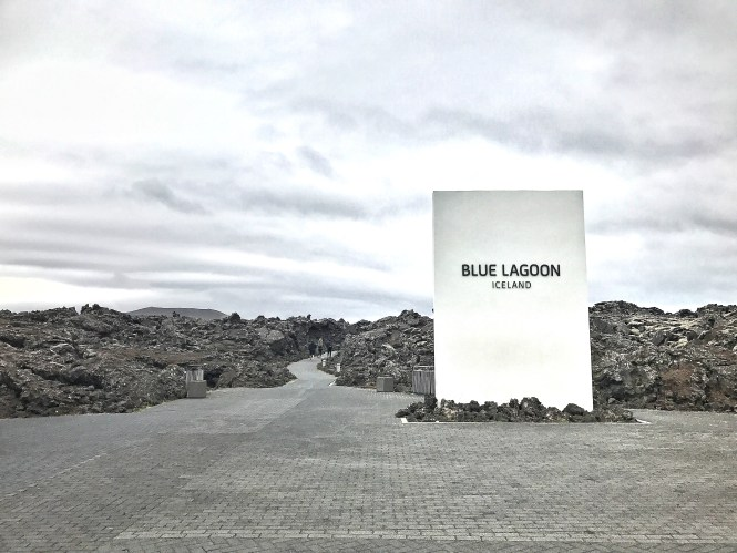 Blue lagoon Reykjavik Iceland Sign Entrance