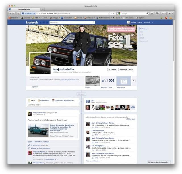 1000 fans Facebook pour Bonjourlavieille.com, bravo !