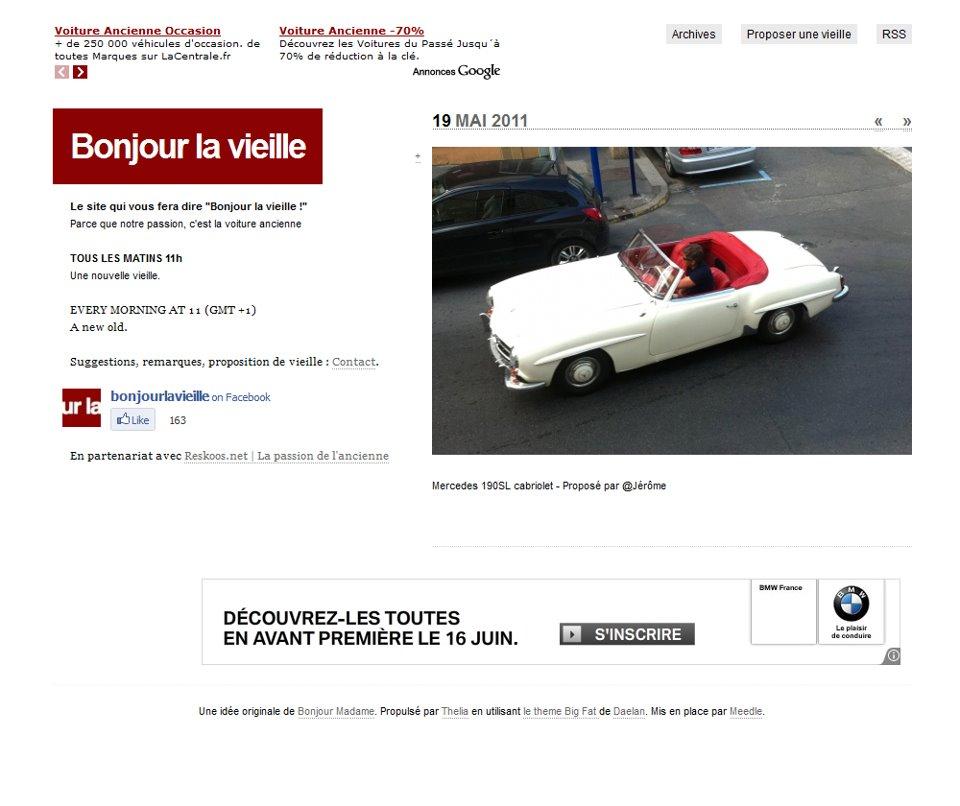 Aperçu de la première version du site Bonjourlavieille.com
