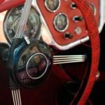 Vue de l'intérieur d'une Mercedes 190 SL