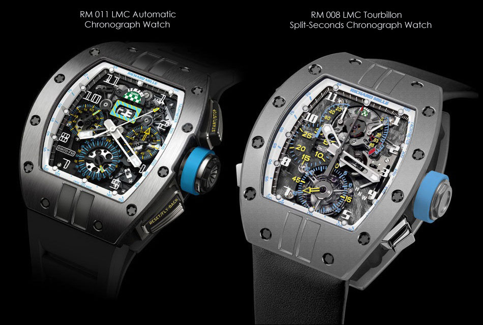 Richard Mille Le Mans Classic 2012 RM 008 LMC and RM 011 LMC Watch