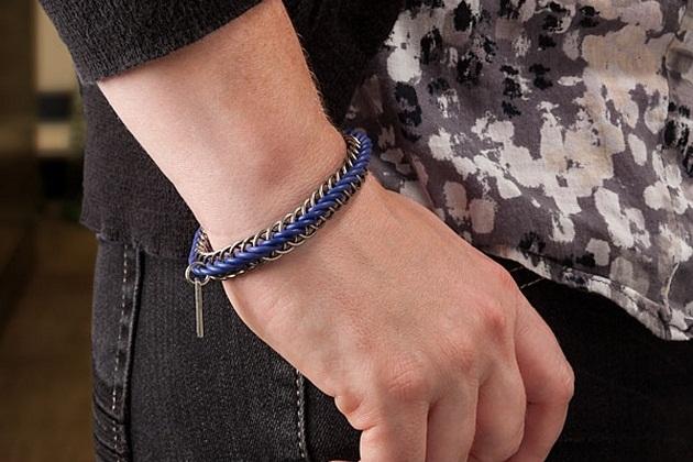 Color Chainmail Bracelet for Men (1)