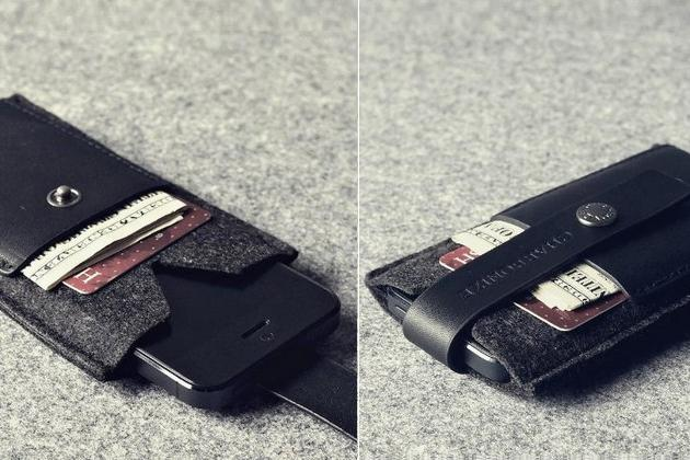Charbonize Genuine Leather iPhone Wallet