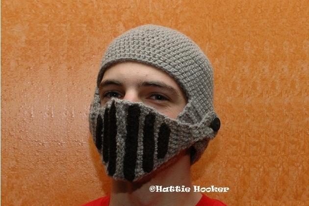 Crocheted Knight Helmet (2)