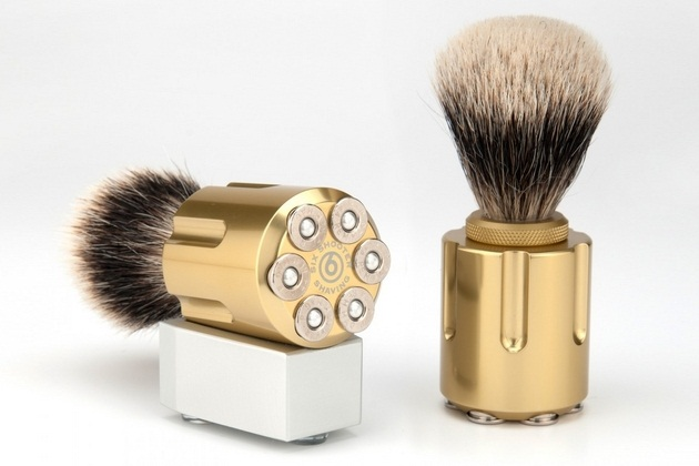 Six Shooter Shave Brushes (2)