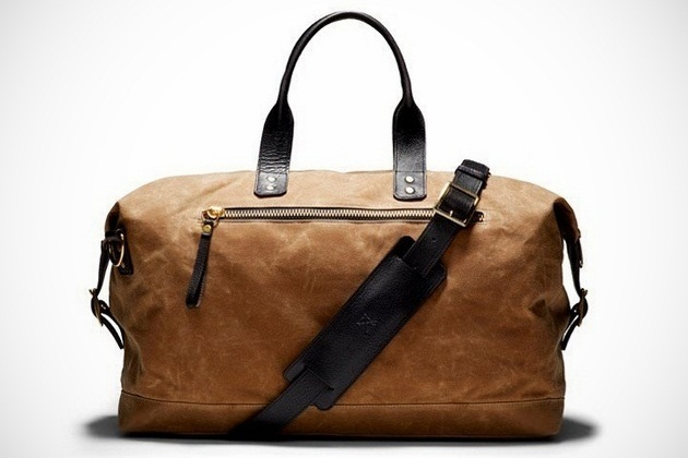 Bedford British Tan Wax Overnight Bag