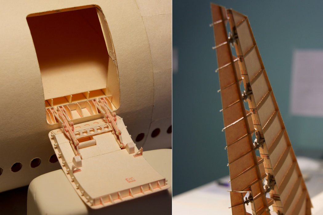 160-Scale Boeing 777 Built from Paper Manilla Folders (3)