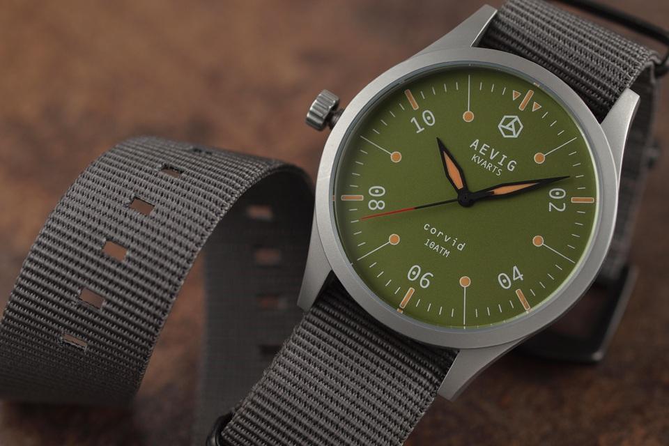 Aevig Corvid – Classic Quartz Field Watch