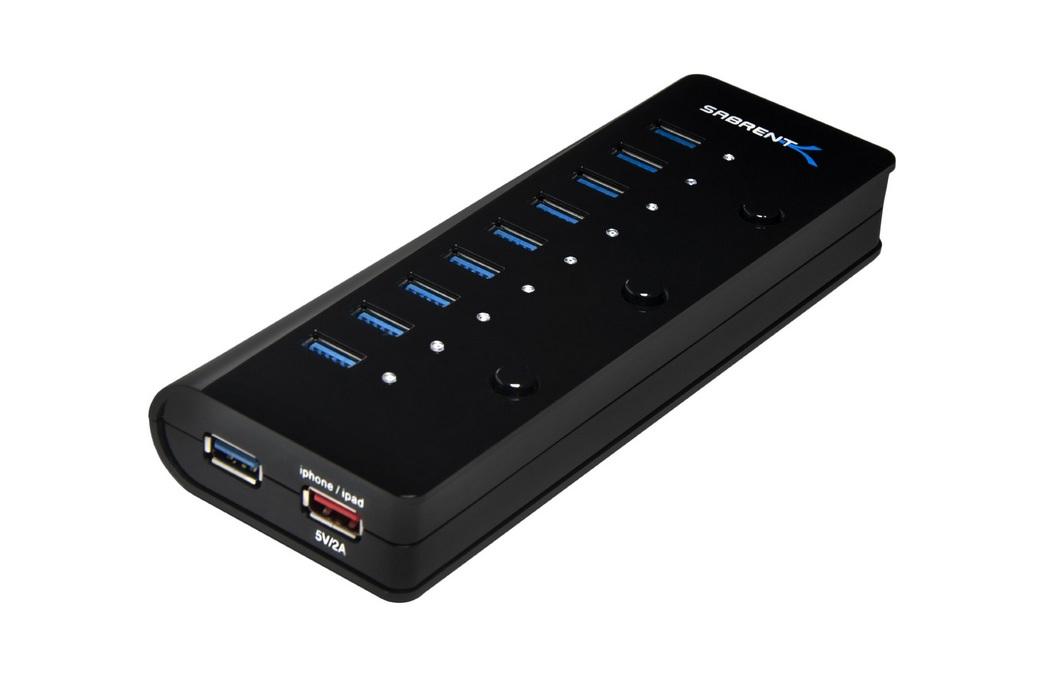 Sabrent Portable 10-Port 3.0 USB Smart Charging Hub