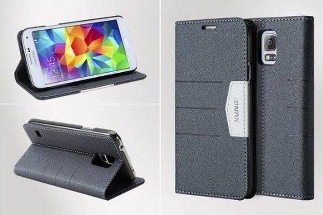 Ultra-thin Cover and Stand for Samsung galaxy S5 Black