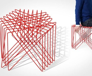 Kagome Stool Reflects Traditional Japanese Craft
