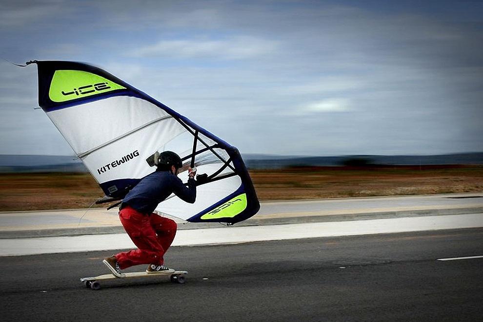 Kitewing Wind Powered Handheld Sails