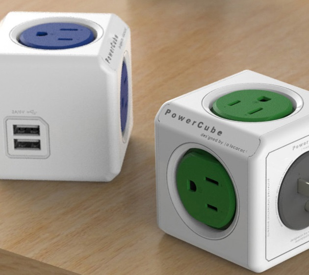 PowerCube Extended USB and Electric Outlet Adapter (6)