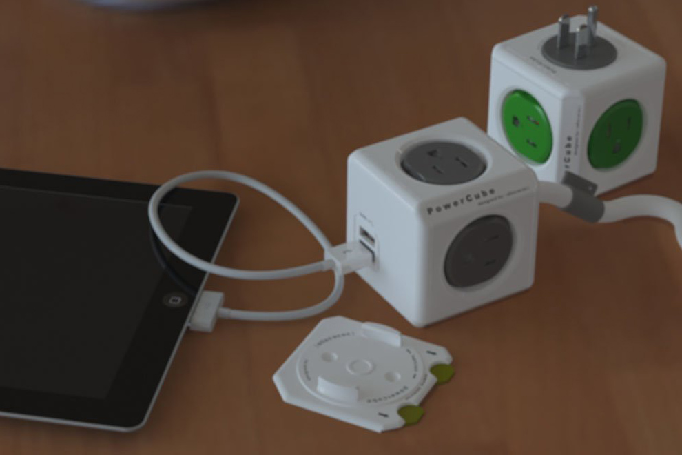 PowerCube Extended USB and Electric Outlet Adapter (5)