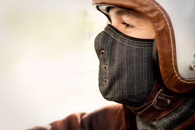 Sankakel Mask Neck Cover Denim