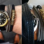 FACA 18k Gold Bracelet with Black Leather (1)