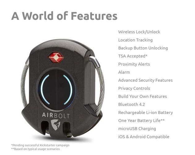 AirBolt Travel Smartlock for Luggage