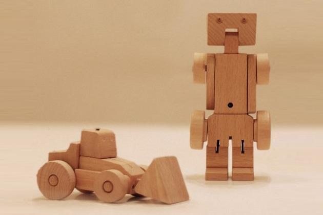 Meet WooBots Creative Wooden Robot Toy (5)